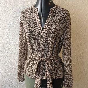 NWT Leopard print sheer top